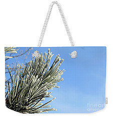 Weekender Tote Bag featuring the photograph Icing On The Needles by Michal Boubin
