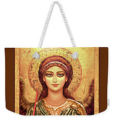 Icon Archangel In Gold Weekender Tote Bag