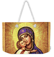 Icon Madonna And Infant Jesus Weekender Tote Bag
