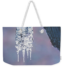 Weekender Tote Bag featuring the photograph Icy Beauty by Ari Salmela