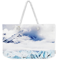 Weekender Tote Bag featuring the photograph Icy Blue by Diane E Berry