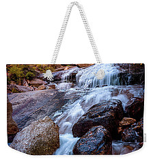 Icy Cascade Waterfalls Weekender Tote Bag