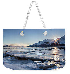 Icy Chilkat Sunset Weekender Tote Bag by Michele Cornelius