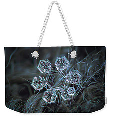 Weekender Tote Bag featuring the photograph Icy Jewel by Alexey Kljatov