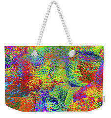 Weekender Tote Bag featuring the photograph Icy Kaleidoscope by Tony Beck