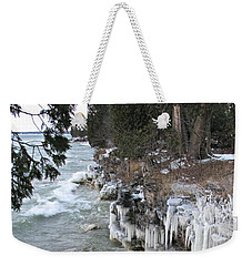 Icy Shores Weekender Tote Bag by Greta Larson Photography
