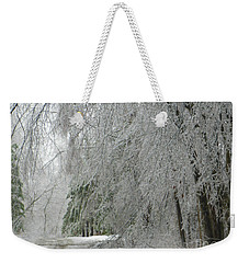 Icy Street Trees Weekender Tote Bag