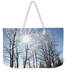 Icy Sunburst Weekender Tote Bag
