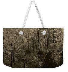 Icy Trees In Sepia Weekender Tote Bag