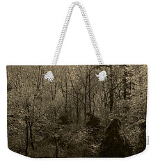 Icy Trees In Sepia Weekender Tote Bag