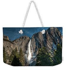 Icy Upper Yosemite Falls Weekender Tote Bag