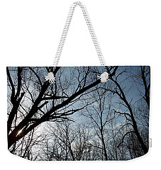 Icy Winter Sky Weekender Tote Bag