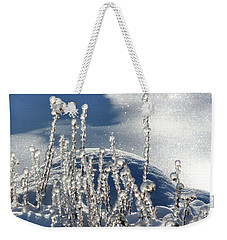 Weekender Tote Bag featuring the photograph Icy World by Doris Potter