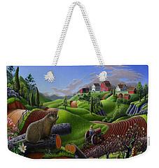 Id Rather Be Farming - Springtime Groundhog Farm Landscape 1 Weekender Tote Bag