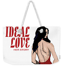 Weekender Tote Bag featuring the digital art Ideal Love Book Cover by Jayvon Thomas