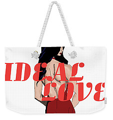 Weekender Tote Bag featuring the digital art Ideal Love Cover by Jayvon Thomas
