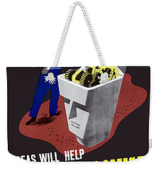 Weekender Tote Bag featuring the digital art Ideas Will Help Beat The Promise by War Is Hell Store