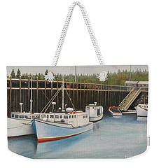 Idle At Low Tide Weekender Tote Bag