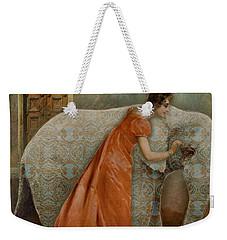 Weekender Tote Bag featuring the digital art If Elephants Were Painted by Lisa Noneman