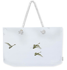 If I Had Wings - Swans In Flight Weekender Tote Bag by Jane Eleanor Nicholas