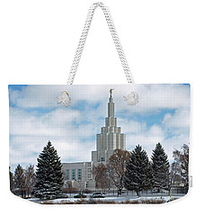 If Temple After Snow Weekender Tote Bag