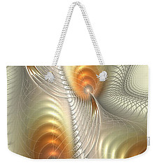 Weekender Tote Bag featuring the digital art Ignis Fatuus by Anastasiya Malakhova