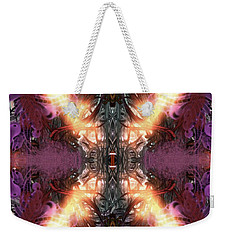 Weekender Tote Bag featuring the digital art Ignition by Reed Novotny