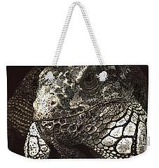 Iguana Weekender Tote Bag by Kathie Miller