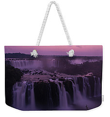 Iguazu Sunset In Violet Weekender Tote Bag by Alex Lapidus