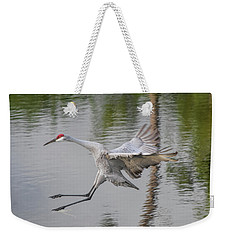 Ike The Crane's Grouchy Day Weekender Tote Bag
