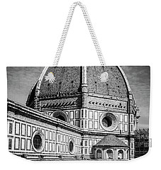 Weekender Tote Bag featuring the photograph Il Duomo Florence Italy Bw by Joan Carroll