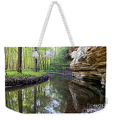 Illinois Canyon In Springstarved Rock State Park Weekender Tote Bag
