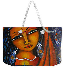Weekender Tote Bag featuring the painting Illuminate by Prerna Poojara