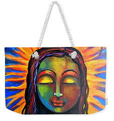 Weekender Tote Bag featuring the mixed media Illuminated By Her Own Radiant Self by Prerna Poojara