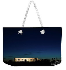 Weekender Tote Bag featuring the photograph Illuminated Castle Ruin by Kennerth and Birgitta Kullman