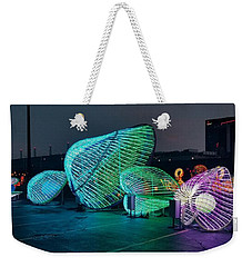 Illuminated Clam Lights Weekender Tote Bag