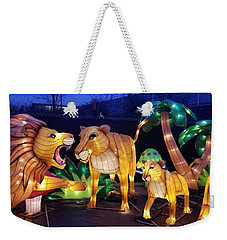 Illuminated Lion Family Weekender Tote Bag