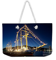 Illuminated Sailing Ship Weekender Tote Bag by Aiolos Greek Collections
