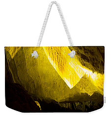Weekender Tote Bag featuring the photograph Illuminated Shawl by Angela DeFrias