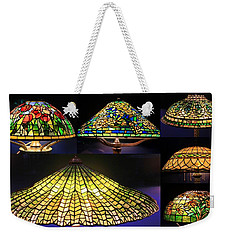 Illuminated Tiffany Lamps - A Collage Weekender Tote Bag
