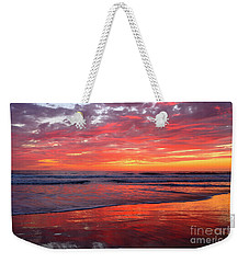 Weekender Tote Bag featuring the photograph North County Waves by John F Tsumas