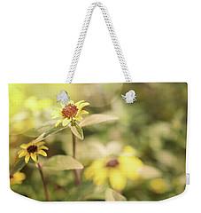 Illuminated Zinnia Weekender Tote Bag