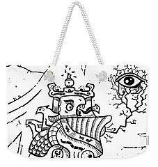 Surrealism Illuminati Black And White Weekender Tote Bag