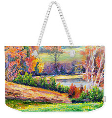Illuminating Colors Of Fall Weekender Tote Bag by Lee Nixon