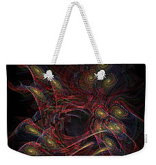 Weekender Tote Bag featuring the digital art Illusion And Chance - Fractal Art by NirvanaBlues