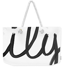 Weekender Tote Bag featuring the mixed media Ily- Art By Linda Woods by Linda Woods