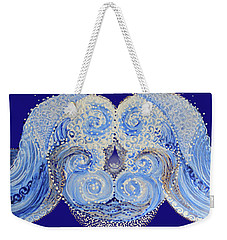 Weekender Tote Bag featuring the painting I'm A Drop In The Blue Wave. Join Me by Kym Nicolas
