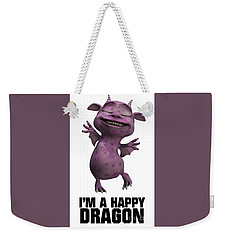 I'm A Happy Dragon Weekender Tote Bag by Esoterica Art Agency