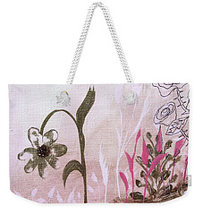 Weekender Tote Bag featuring the painting I'm A Survivor by Robin Maria Pedrero