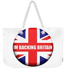 Im Backing Britain Weekender Tote Bag
